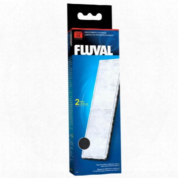 Fluval U3 Filter Poly/carbon Catridge (2 Pack)