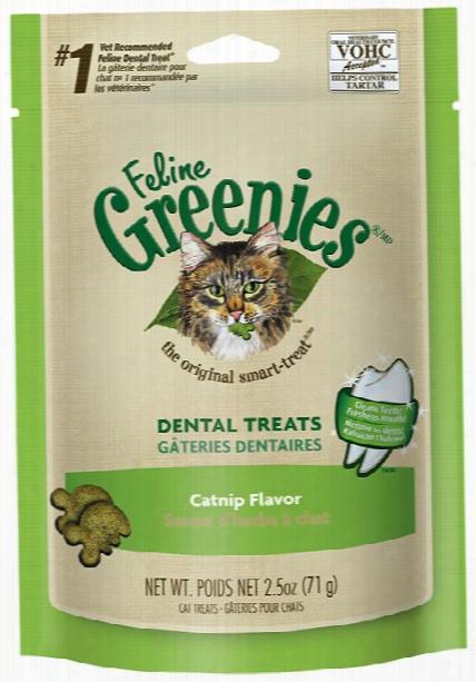 Greenies Feline Dental Treats - Catnip Flavor (2.5 Oz)