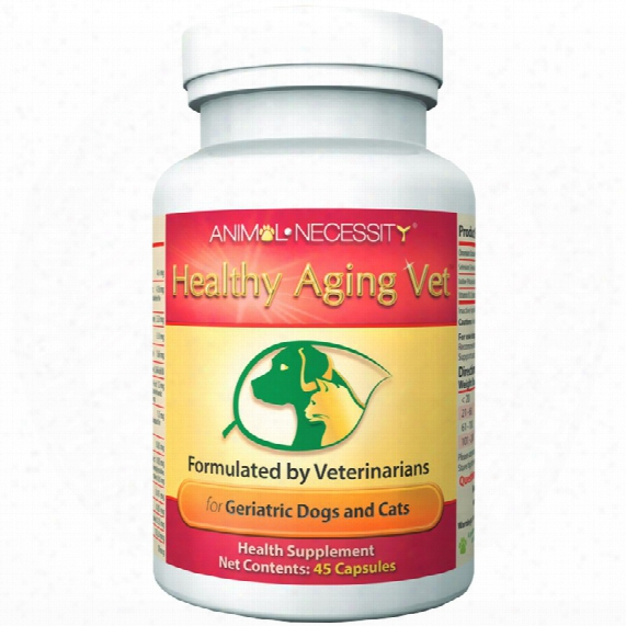 Animal Necessity Healthy Aging Vet For Geriatric Dogs & Cats (45 Capsules)
