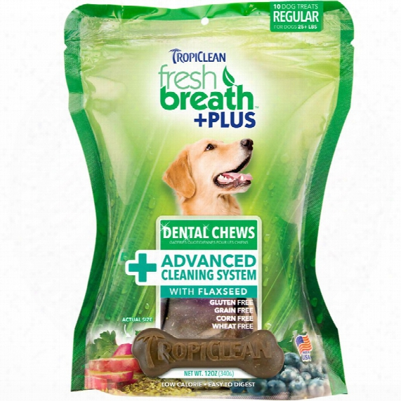 Fresh Breath Plus  Dental Treats Advanced Cleaning System - Thorough (10 Chews)