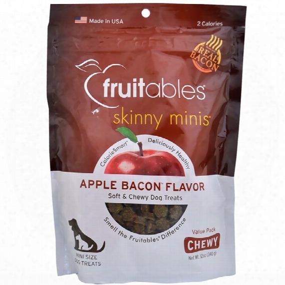Fruitables Skinny Minis Soft & Chewy Dog Treats - Apple Bacon (12 Oz)