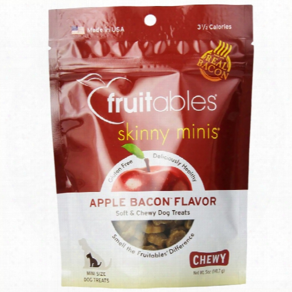 Fruitables Skinny Minis Soft & Chewy Dog Treats - Apple Bacon (5 Oz)