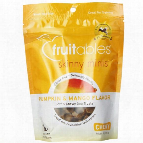 Fruitables Skinny Minis Soft & Chewy Dog Treats - Pumpkin & Mango (5 Oz)