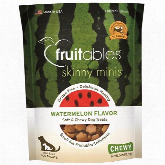Fruitables Skinny Minis Soft & Chewy Dog Treats - Watermelon (5 Oz)