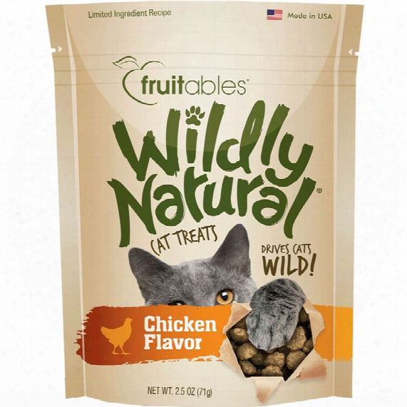 Fruitables Wildly Natural Cat Treats - Chicken Flavor (2.5 Oz)