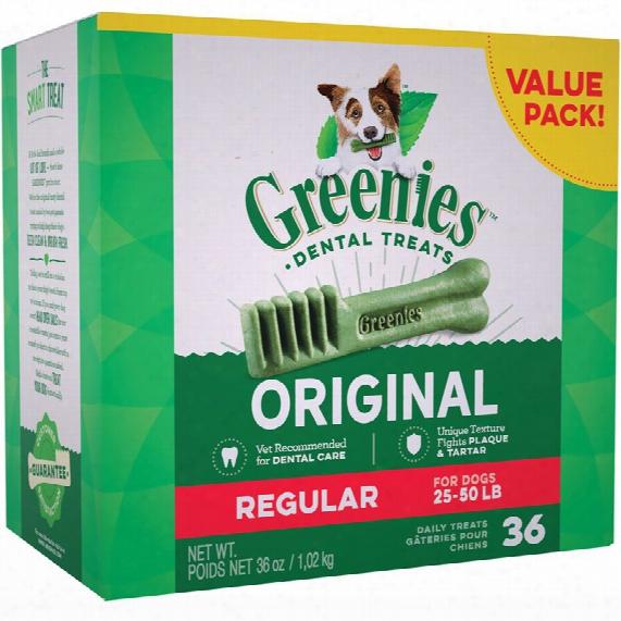 Greenies Dental Chews Value Size - Regular 36 Oz (36 Chews)