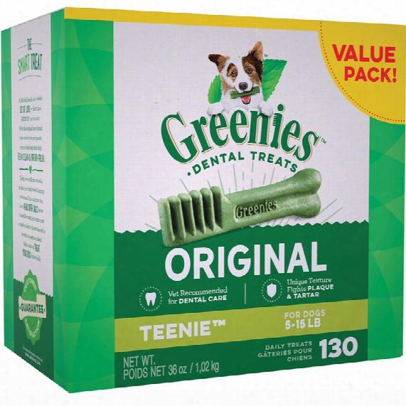 Greenies Dental Chews Value Size - Teenie 36 Oz (130 Chews)