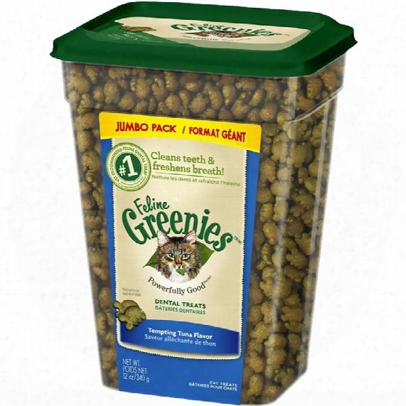 Greenies Feline Dental Treats - Tempting Tuna Flavor (12 Oz Tub)