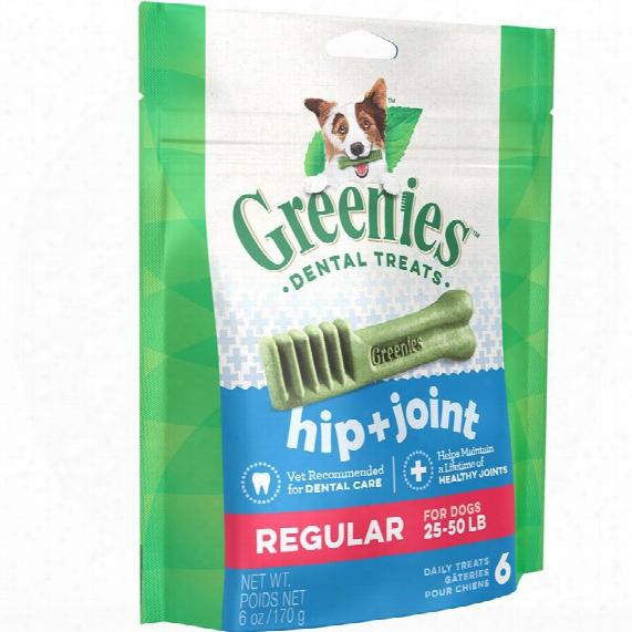 Greenies Hip & Joint Care Dental Chew - Regular (6 Bones)