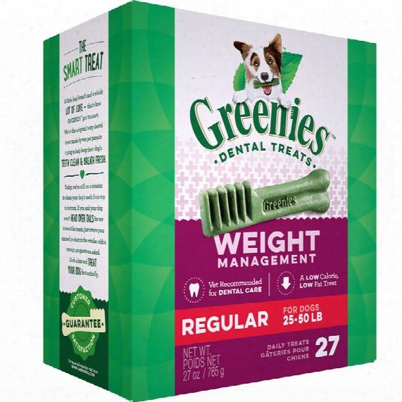 Greenies Weight Management Treat-pak - Regular (27 Oz)