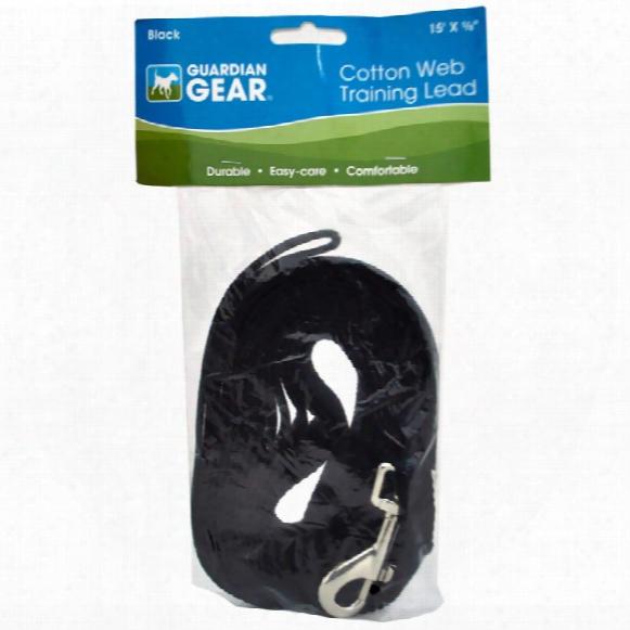 Guardian Gear Cotton Web Training Lead - Black (15 Ft)