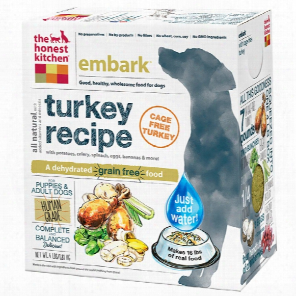 Honest Kitchen Embark Dehydrated Grain-free Turkey Dog Food (4 Lbs)