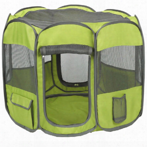 Insect Shield Fabric Exercise Pen Large - Green