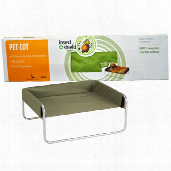 Insect Shield Pet Cot Large - Green