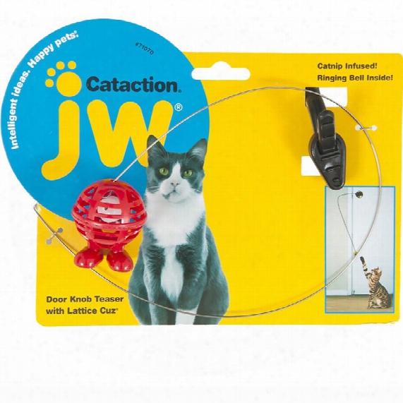Jw Pet Cataction Doorknob Teaser With Cuz