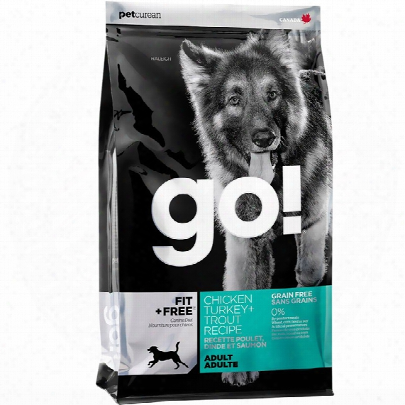 Petcurean Go! Fit + Free Adult Dog Food -chicken Turkey + Trout (12 Lb)