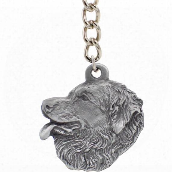 "Dog Breed Keychain Usa Pewter - Leonberger (2.5"")"