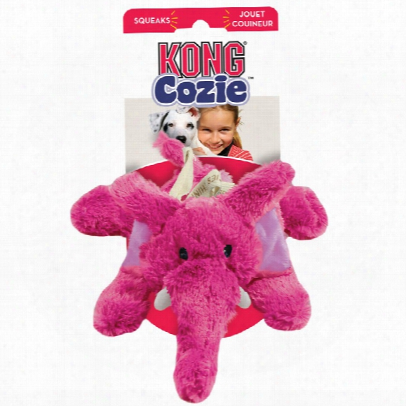 Kong Cozie Elmer The Elephant Dog Toy - Medium