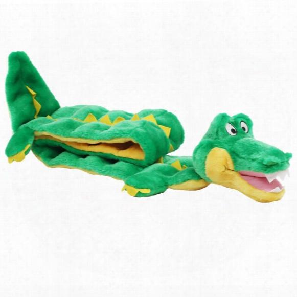 Kyjen Plush Puppies Ginormous Squeaker Mat Gator