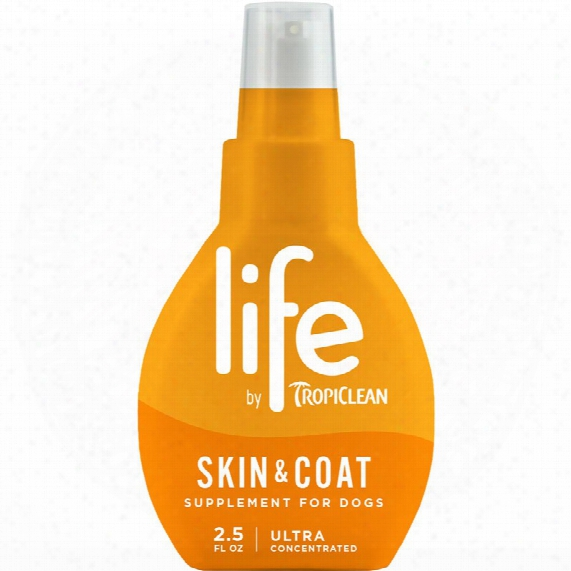 Life By Tropiclean Skin & Coat Supplement For Dogs (2.5 Fl Oz)