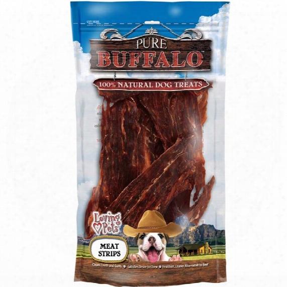 Loving Pets Pure Buffalo Meat Jerky Strips (3.5 Oz)