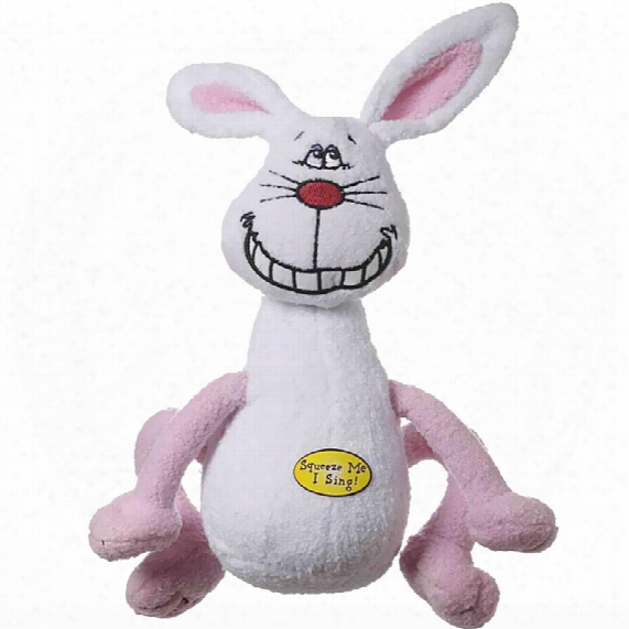 Multipet Deedle Dudes Rabbit Dog Toy - 8""