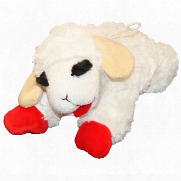 "Multipet Lamb Chop Dog Toy - 6"""
