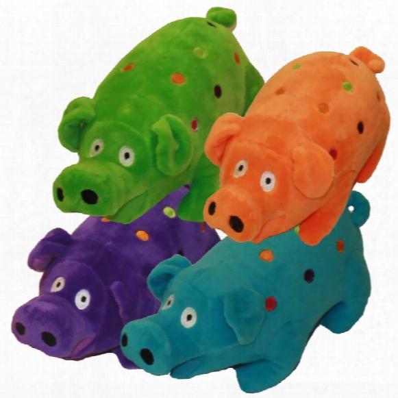 """Multipet Polka Dot Goblet Pig - 9"""" (assorted)"""