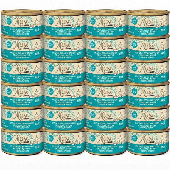 Muse Natural Ocean Whitefish & Mackerel Cat Food Pate (24x3oz)