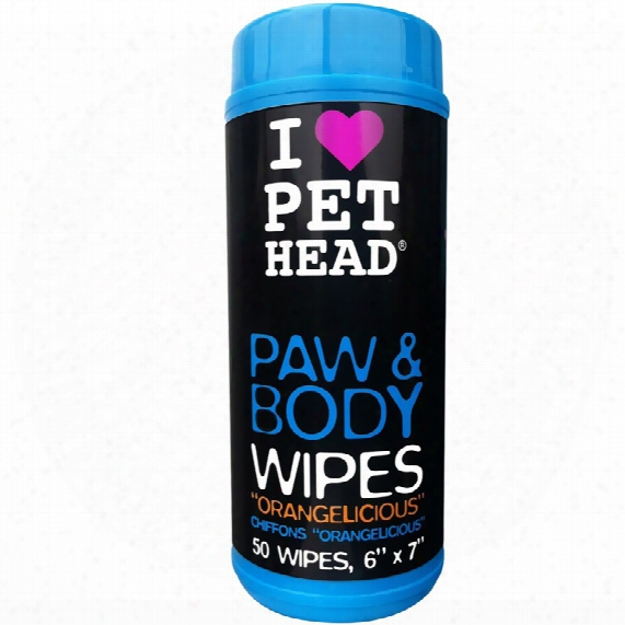 My Paws Rock Orangelicious Wipes (50 Count)