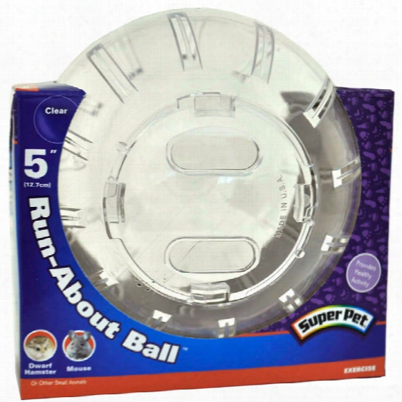 """Superpet Mini Run About Ball 5"""" Clear"""