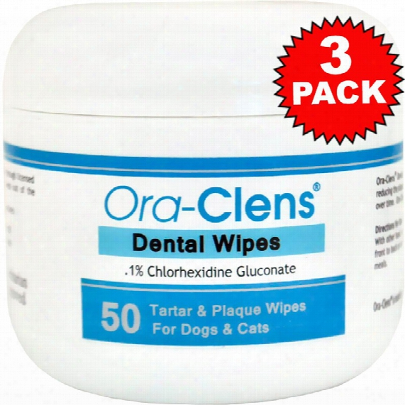 3-pack Ora-clens Dental Wipes (150 Count)