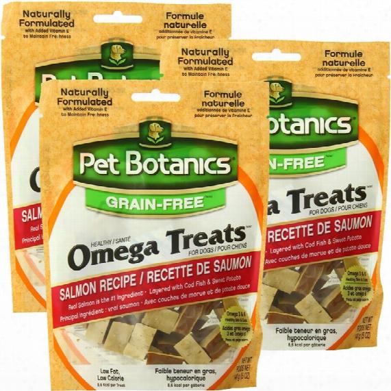 3 Pack Pet Botanics Healthy Omega Treats - Salmon (15 Oz)