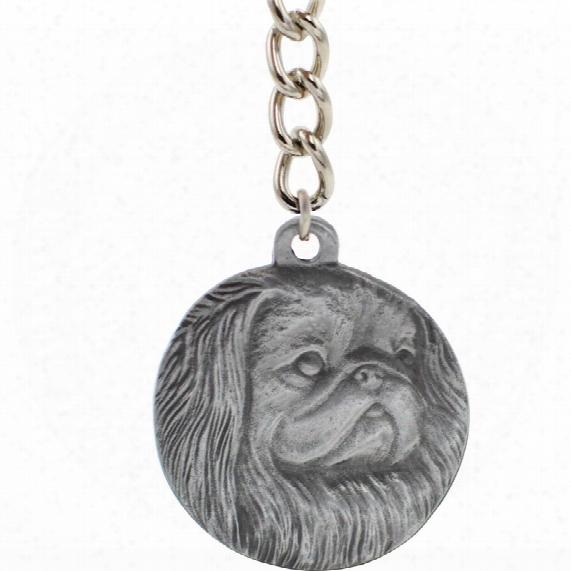 """Dog Breed Keychain Usa Pewter - Pekingese (2.5"""")"""