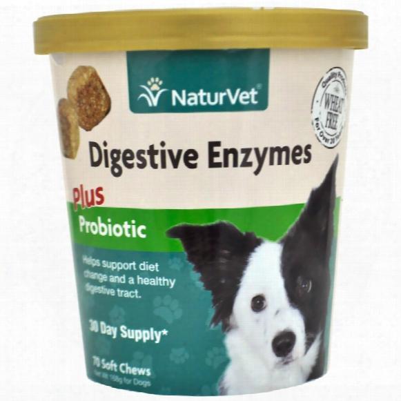 Naturvet Digestive Enzymes Plus Probiotic (70 Soft Chews)