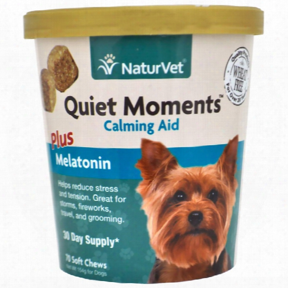 Naturvet Quiet Mo Ments Calming Aid Plus Melatonin (70 Soft Chews)