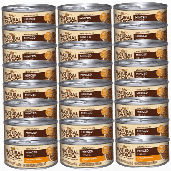 Nutro Natural Choice Minced Chicken & Gravy - Adult Cat (24x3oz)