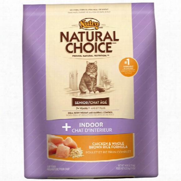 Nutro Wholesome Essentials Chicken & Brown Rice - Indoor Senior Cat (14 Lb)