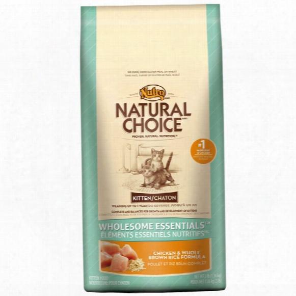 Nutro Wholesome Essentials Chicken & Brown Rice - Kitten (3 Lb)