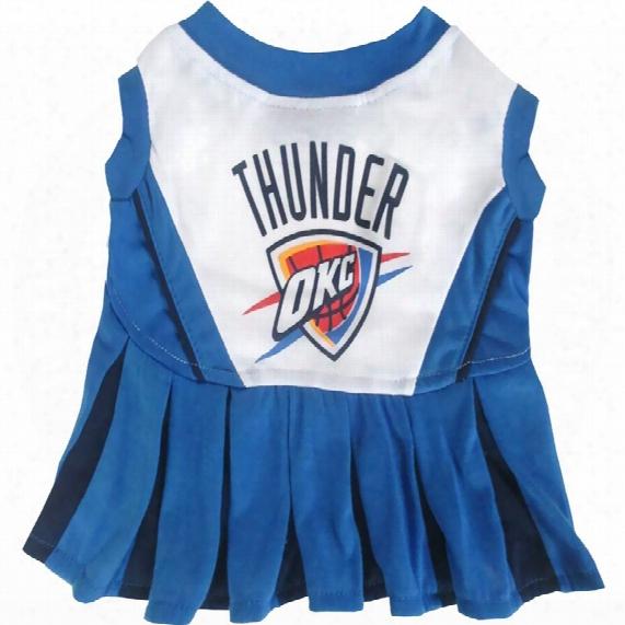 Oklahoma City Thunder Cheerleader Dog Dress - Medium