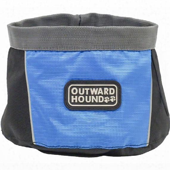 Outward Hound Port A Bowl (48 Oz) - Medium Blue