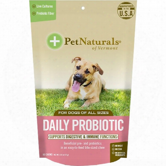 Pet Naturals Daily Probiotic For Dogs (60 Chews)