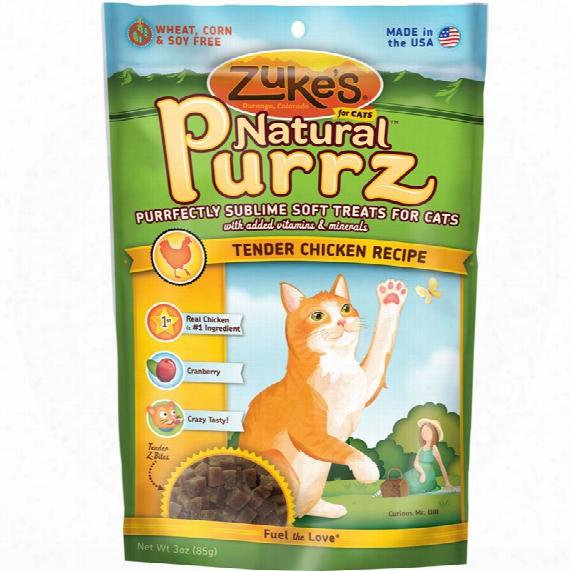 Zuke's Natural Purzz Healthy Moist Treats For Cats - Chicken (3 Oz)