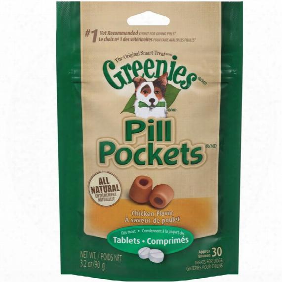 Greenies Pill Pockets Chicken Formula 3.2 Oz (30 Count)