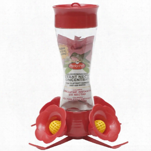Perky Pet Pinch Waist Glass Hummingbird Feeder (8 Oz Capacity)