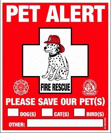 Pet Alert - 2 Decal Window Clings