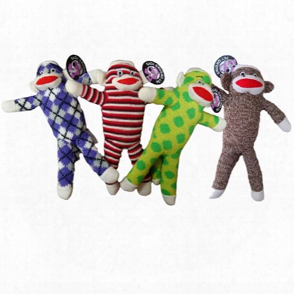 Pet Qwerks Plush Sock Monkey Toy