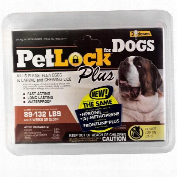 Petlock Plus Flea & Tick Treatment For Xlarge Dogs (3 Doses)