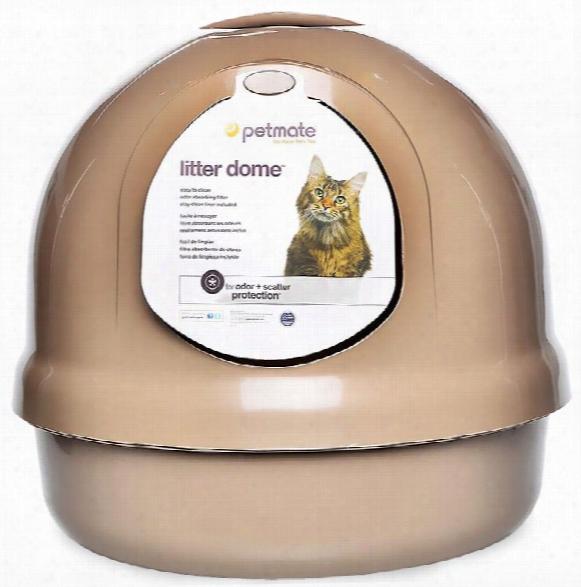 Petmate Dome Litter Pan - Titanium
