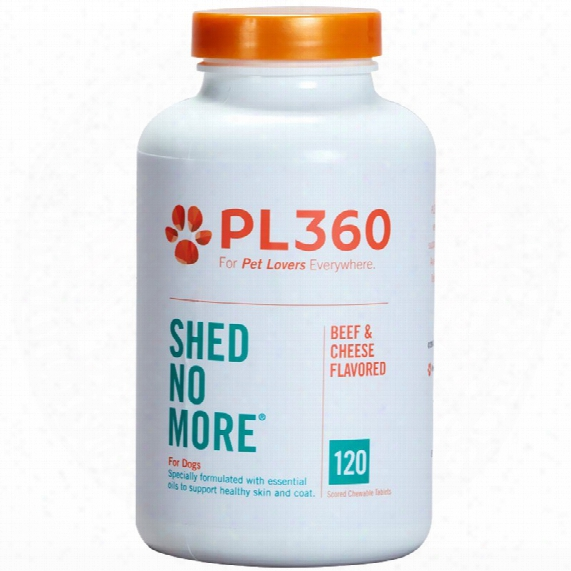 Pl360 Shed No More For Dogs, Beef & Cheese Flavor 120 Chewable Tablets